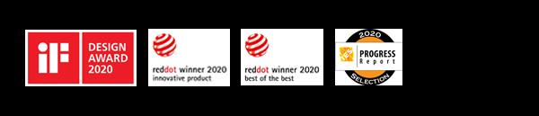 iF Design Award 2020, Red Dot - Best of the Best Lighting Design 2020, <br>Red Dot Innovative Product 2020, Progress Report Selection
