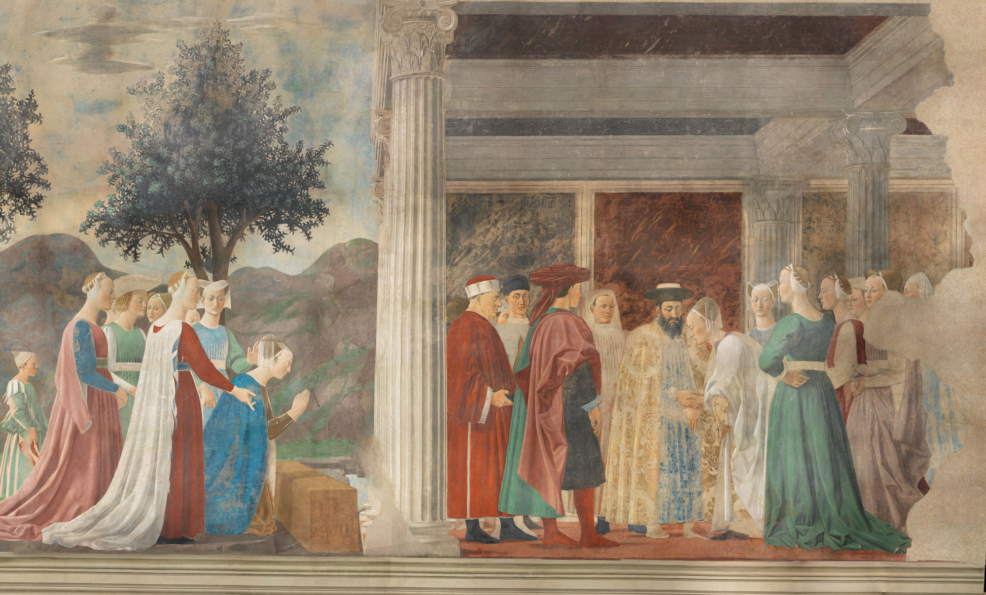 Renewed lighting for Piero della Francesca