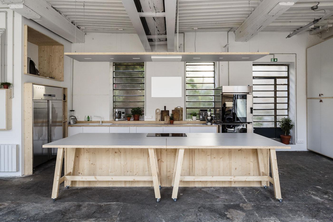 Atelier Food Factory, Lyon. Laser Blade et iSign iGuzzini.