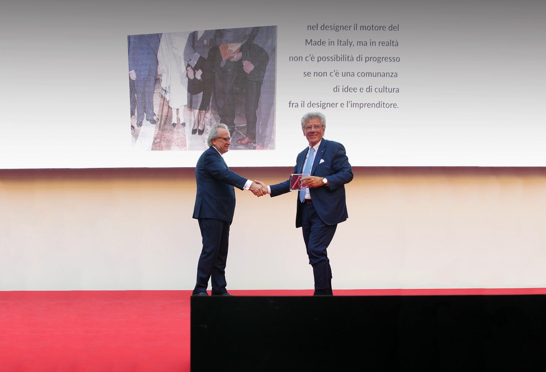 Adolfo Guzzini receives the Compasso d'Oro Award