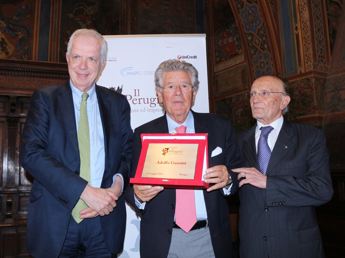 "Adolfo Guzzini receives the ""Il Perugino, artist and entrepreneur"" Award"
